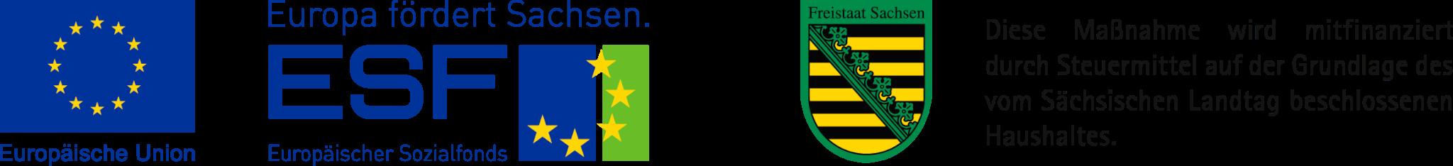 Logo EU ESF Land Sachsen
